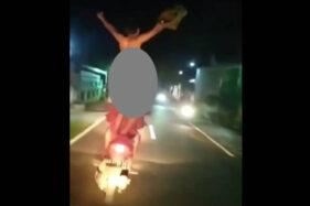 Polisi Tetapkan 2 Tersangka, Ternyata Ini Motif Aksi Bugil Pembonceng Motor di Klaten