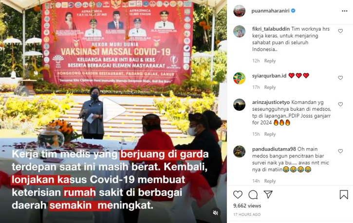 Yang Posting Puan Maharani, Yang Disalami Netizen Malah Ganjar