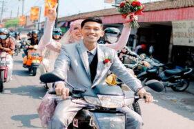 Kisah Pemuda Sukoharjo, Keliling Indonesia hingga ke KUA Pakai Supra yang Sama