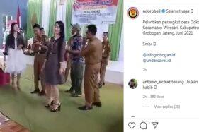 Viral Pelangaran Prokes Sumpah Jabatan di Desa Dokoro Grobogan: Ada Dangdutan & Tamu Tak Pakai Masker