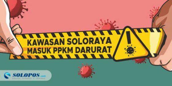 3 Wilayah Soloraya Ikut PPKM Darurat, Dilarang Jajan di Tempat