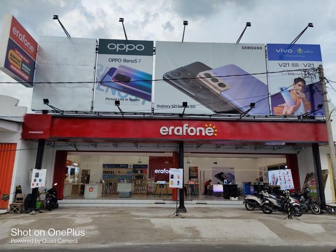 Salah satu gerai Erafone yang merupakan anak perusahaan Erajaya Swasembada. (Istimewa/website Erajaya Swasembada)