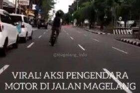 Viral Aksi Pemotor Roda Satu Bahayakan Pengguna Jalan di Magelang