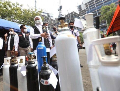 Pemprov Jatim Sediakan Isi Ulang Tabung Oksigen Medis Gratis
