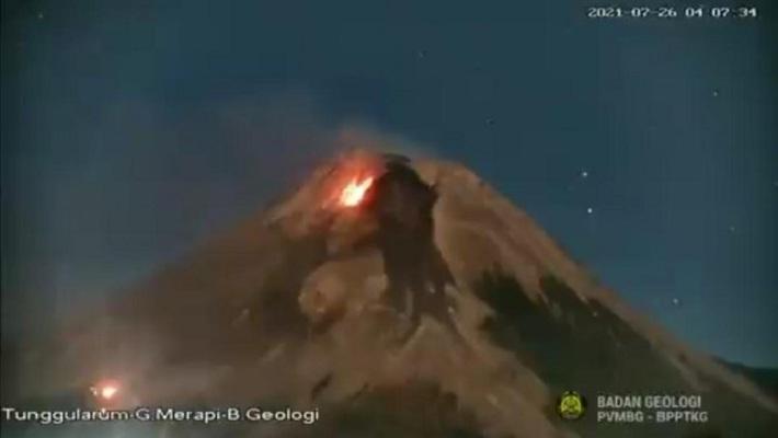 Titik api yang terpantau di lereng barat daya Gunung Merapi (Foto: dok.BPPTKG)