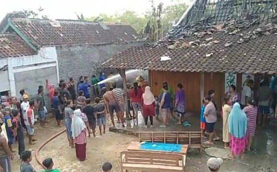 Kebakaran Dua Rumah Di Grobogan Diduga Karena Korsleting