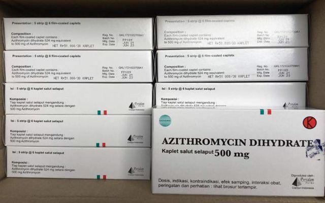 Obat Azithromycin 500mg yang diproduksi PR Pyridam Farma Tbk. (Istimewa)