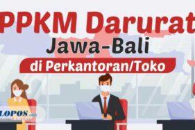 PPKM Darurat Jawa Bali di Perkantoran dan Toko