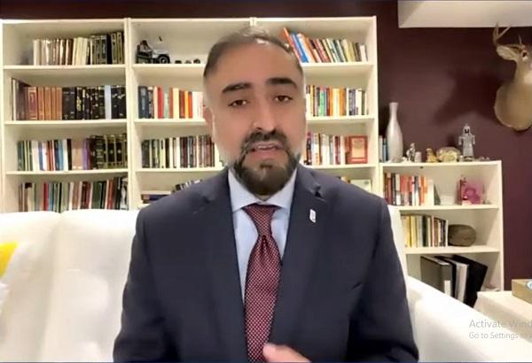 Dr. Faheem Younus dalam Simposium Covid-19: Optimis Indonesia Pulih yang diselenggarakan Gusdurian, Sabtu (17/7/2021). (Youtube Gusdurian TV)