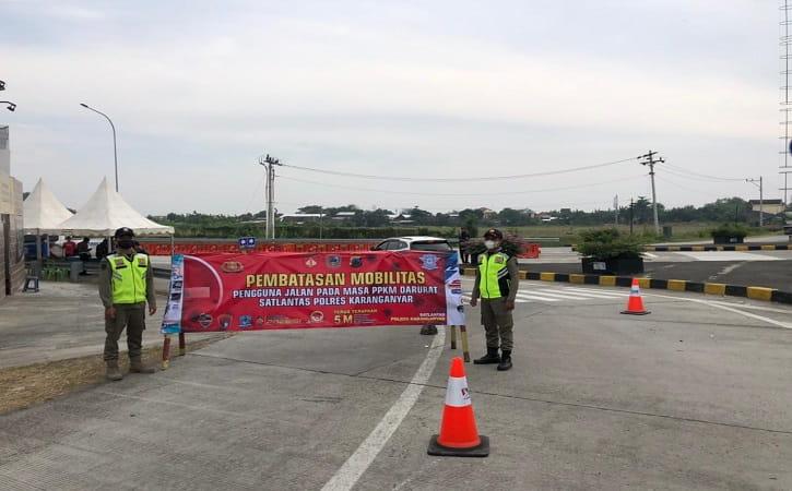 4 Exit Tol di Karanganyar Resmi Ditutup, Petugas Berjaga 24 Jam
