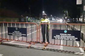 Mulai Sore Ini, Jl. Lawu Perempatan Papahan-Pegadaian Karanganyar Ditutup 13 Jam selama PPKM Darurat