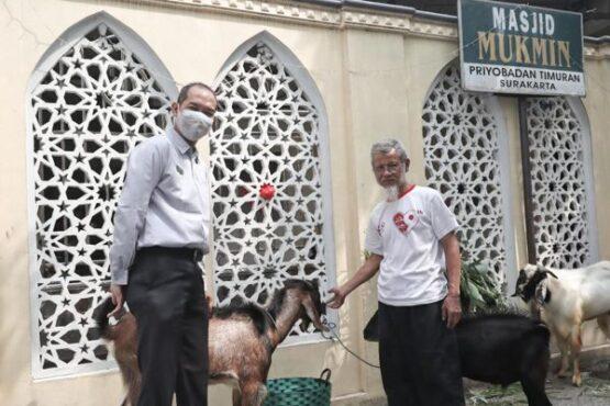 Penyerahan hewan kurban dari Solia Hotel Yosodipuro. (Istimewa)