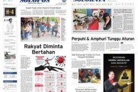 Solopos Hari Ini: Rakyat Diminta Bertahan