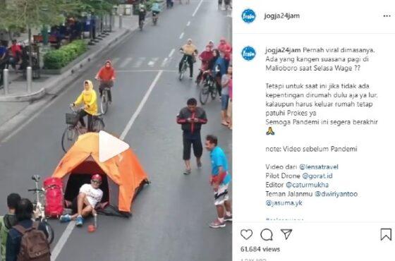 Suasana Selasa Wage di Jalan Marlioboro Kota Yogyakarta (1)
