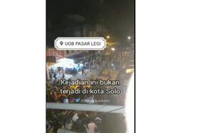 Beredar Video Tawuran di Pasar Legi Solo, Polisi: Hoaks!