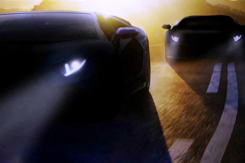 Teaser Lamborghini terbaru. (Antara)