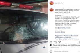 Ambulans PC Muhammadiyah Klaten Ternyata Sudah 2 Kali Dilempari Batu