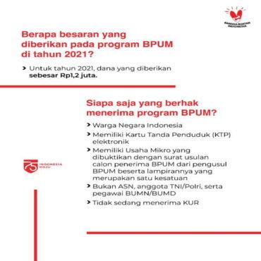 Syarat penerima bantuan BPUM (kemenkopukm.go.id.)