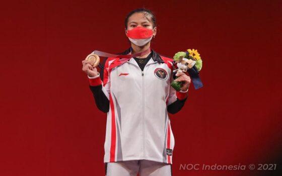 Bonus Rp1,1 Miliar Menanti Windy Cantika setelah Raih Perunggu Olimpiade Tokyo 2020