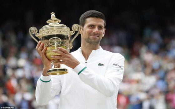 Novak Djokovic Juara Wimbledon 2021 (Twitter)