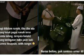 Kehabisan Bekal di Jakarta, Pria Tua Asal Tegal ini Memelas Minta Makan Kepada Taqy Malik