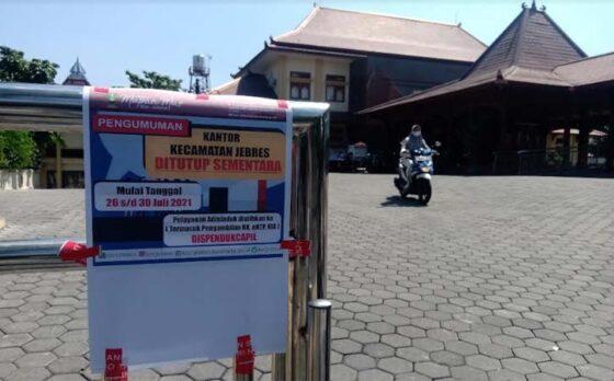 Kantor Kecamatan Jebres Solo Tutup karena Pegawai Kena Covid-19