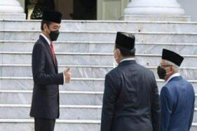 Prabowo Dapat Jempol dari Jokowi di Istana Merdeka