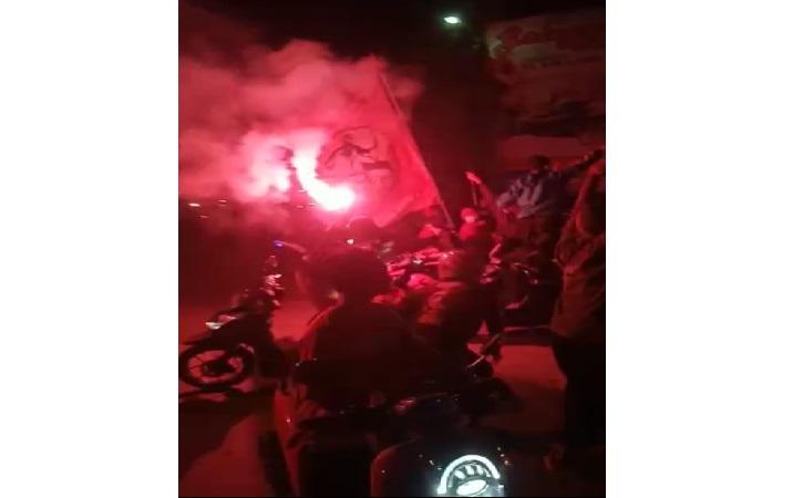 Konvoi kelompok pesilat yang memicu keributan di Sragen pada Sabtu (10/7/2021) malam. (Istimewa)