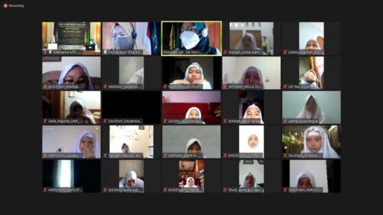 Tangkapan layar Masa Taaruf Madrasah (Matsama) MTs NU Banat Kudus. (istimewa)