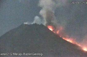 Belum Berhenti, Gunung Merapi Muntahkan Awan Panas Guguran Sejauh 2,5 KM