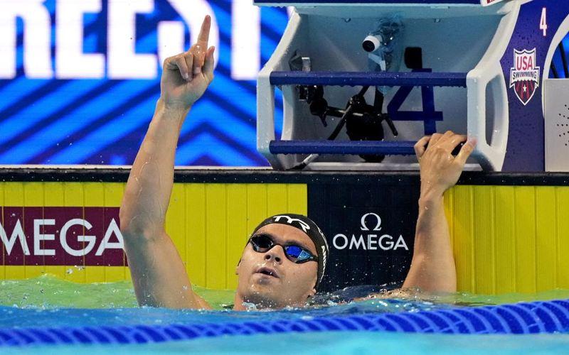 Atlet renang asal AS, Michael Andrew, menolak divaksin karena takut performanya menurun. (Reuters)