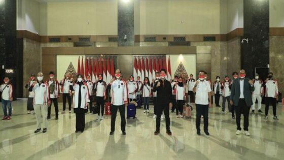 Rombongan besar Kontingen Indonesia bertolak ke Jepang. (Tim Media CdM)