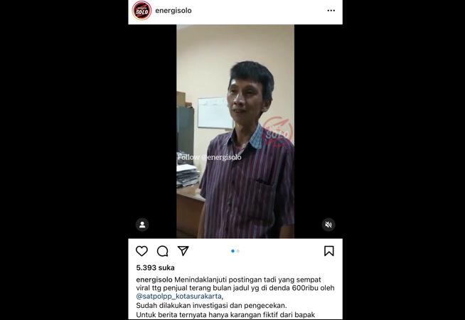 Video Viral PKL Ngaku Didenda Rp600.000 Ternyata Bohong, Satpol PP Solo Tempuh Jalur Hukum