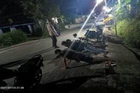 Malam-Malam Mancing di Klaten, 4 Pria Asal Sukoharjo Dihukum Push Up