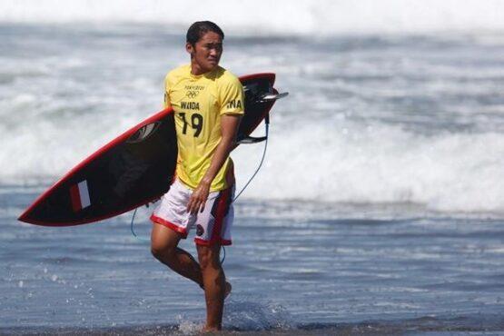 Rio Waida Melaju ke 16 Besar Selancar Olimpiade Tokyo 2020