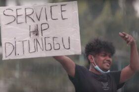 Viral Tukang Servis HP Keliling Jalanan Demi Penuhi Kebutuhan Selama PPKM Darurat