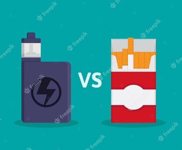 Rokok tembakau vs rokok elektrik alias vape. (Freepik)