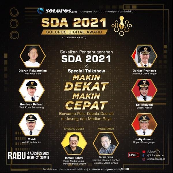 Siapa Kepala Daerah dengan Performa Digital Terbaik? Simak Malam Ini Pengumuman SDA 2021