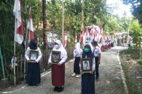 Unik, Upacara Bendera Diikuti 76 Orang, Kibarkan 76 Bendera di Klaten