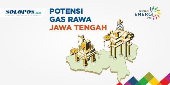 Peta Potensi Gas Rawa Jawa Tengah