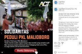 Bendera Putih PKL Malioboro Dorong Aksi Penggalangan Dana