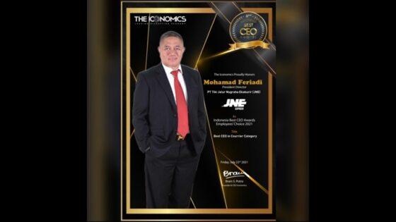 Bos JNE M. Feriadi Soeprapto Dinobatkan Sebagai Best CEO Award 2021