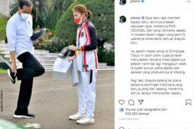 Diam-Diam Greysia Polii Bikin Sepatu Sneakers Lantas Dibeli ke Jokowi, Ini Mereknya Lur