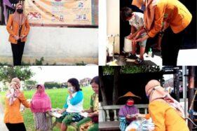 KKN Mandiri di Bendosari Sukoharjo, Mahasiswi Univet Bantara Ini Blusukan Kampanye Pencegahan Covid-19