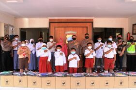 25 Anak Yatim Piatu Gegara Corona di Sukoharjo Jadi Anak Asuh Polres, Dapat Tabungan Pendidikan Juga!
