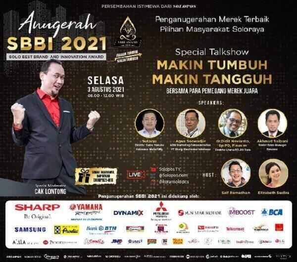Anugerah SBBI 2021 yang digelar Selasa, 3 Agustus 2021. (Solopos)