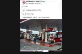 Kabar SPBU di Yogyakarta Dijual Rp45 Miliar Viral