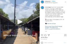 PPKM Bikin Pedagang Pantai Baron Jual Ternak untuk Hidup