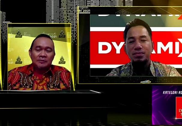 Senior Sales Manager Dynamix, Akhmad Saibani menjadi narasumber di dalam acara Special Talkshow Makin Tumbuh Makin Tangguh yang diadakan Solopos Media Group. (Youtube/Solopos TV)