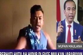 Polri Buru Pria Pemaki Presiden Jokowi